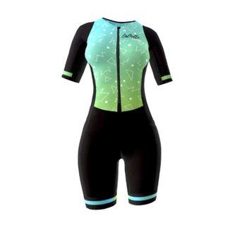 Macaquinho Ciclismo Feminino Oggi La Belle - Verde/Preto