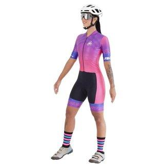 Macaquinho Ciclismo RH-32 Rosa - Feminino - Persian Rose - P