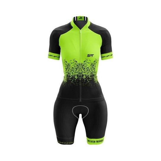 Macaquinho Ciclismo Spartan Spt Manga Curta Proteção UV Ref 01 - Verde