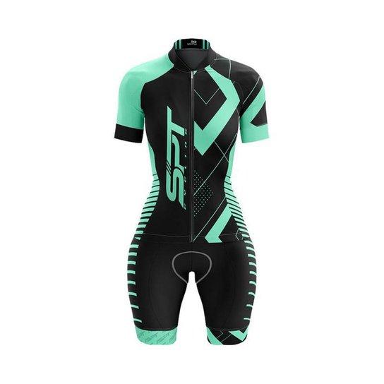 Macaquinho Ciclismo Spartan Spt Manga Curta Proteção UV Ref 02 - Verde