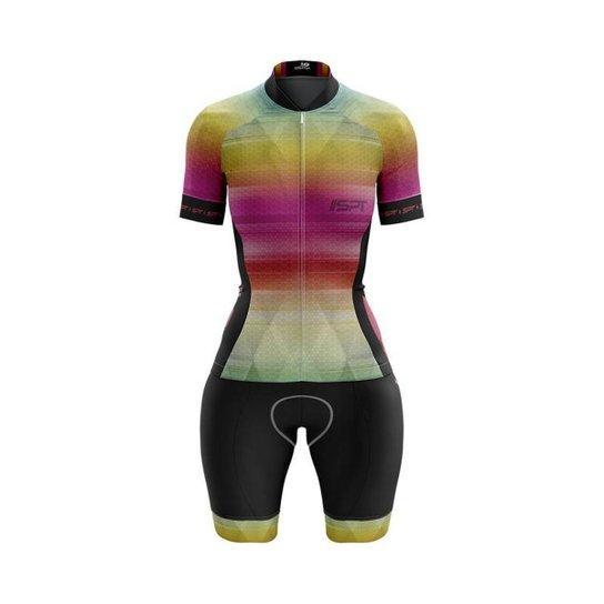 Macaquinho Ciclismo Spartan Spt Manga Curta Proteção UV Ref 04 - Rosa