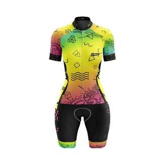 Macaquinho Ciclismo Spartan Spt Manga Curta Proteção UV Ref 08