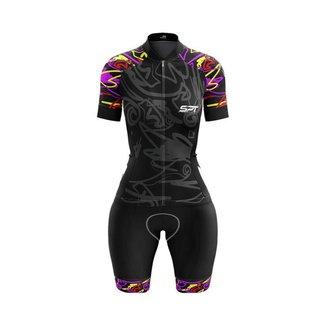 Macaquinho Ciclismo Spartan Spt Manga Curta Proteção UV Ref 09