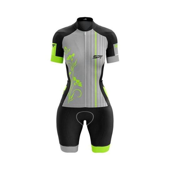 Macaquinho Ciclismo Spartan Spt Manga Curta Proteção UV Ref 10 - Cinza