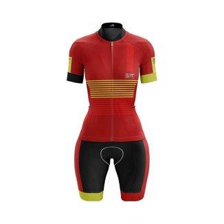 Macaquinho Ciclismo Spartan Spt Manga Curta Proteção UV Ref 12