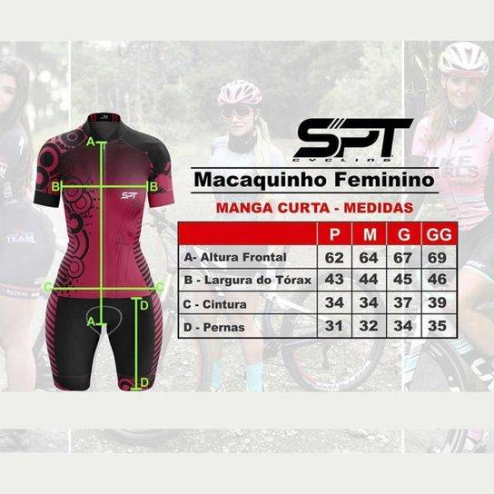 Macaquinho Ciclismo Spartan Spt Manga Curta Proteção UV Ref 12 - Vermelho