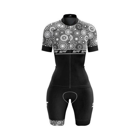 Macaquinho Ciclismo Spartan Spt Manga Curta Proteção UV Ref 15 - Preto