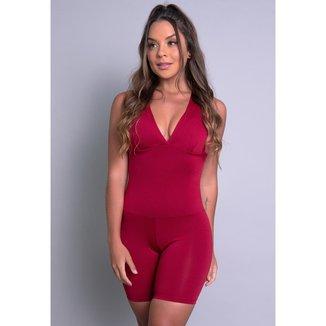 Macaquinho  Curto Bojo Suplex Estampado Fitness Academia Mvb Modas Feminino