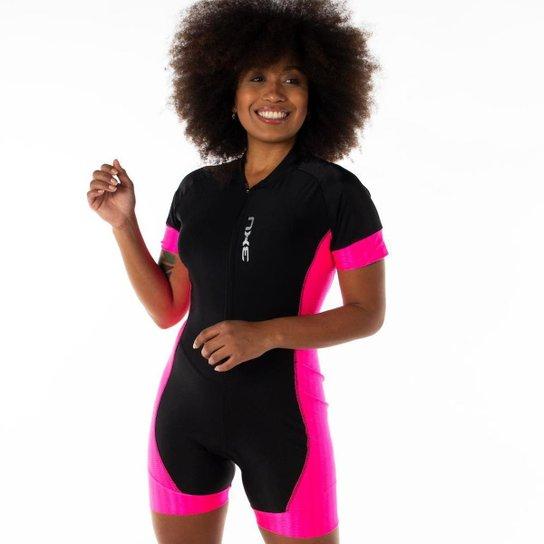 Macaquinho De Ciclismo 3xu Wonder Refactor Mtb Speed - Rosa