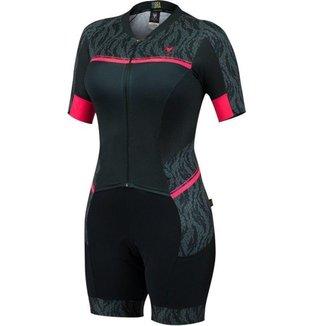 Macaquinho de ciclismo feminino Free Force Hide forro Invert Gel