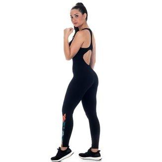 Macaquinho Dumbbells Elite Feminino UV 50+ Longo Casual