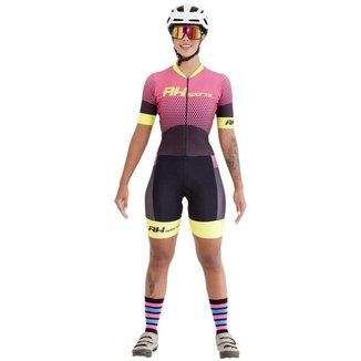 Macaquinho Feminino Compressão Proteção UV Ciclismo Macio
