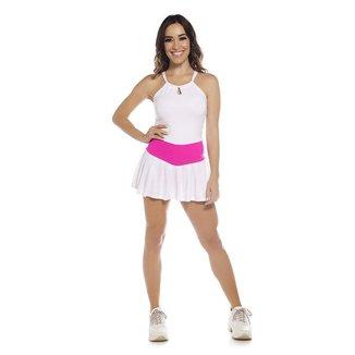 Macaquinho Fitness SSTYLE Short Saia Feminino