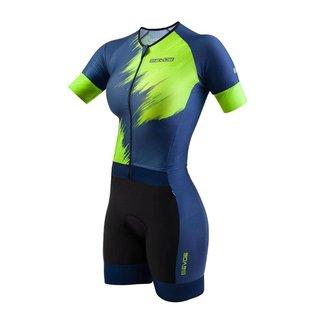 Macaquinho Triathlon Feminino EVOE Azul/Neon