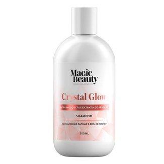 Magic Beauty Crystal Glow Shampoo de Revitalização Capilar 300ml
