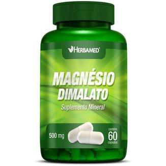 Magnésio Dimalato   60 Cápsulas   Herbamed