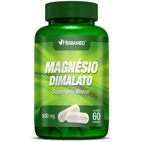 Magnésio Dimalato   60 Cápsulas   Herbamed -