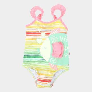 Maiô Bebê Boca Grande Estampado Proteção UV 50+