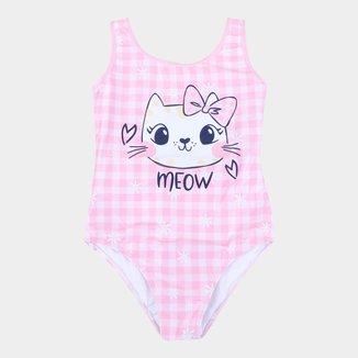 Maiô Infantil Malwee Proteção UV 50+ Meow