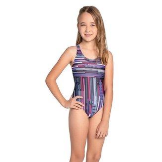Maio Infantil Natação Trinys Estampado Helanca Costas Nadador