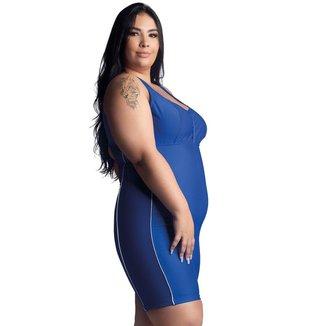 Maiô Macaquinho Plus Size Hidroginástica/ Natação