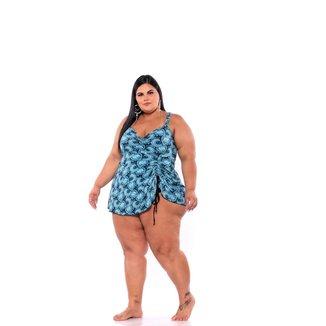 Maiô Plus Size Grande Feminino Modelo Batinha Vestido Bojo Removível