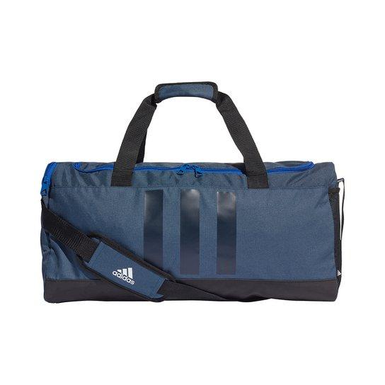 Mala Adidas Essentials 3 Listras - Azul+Preto