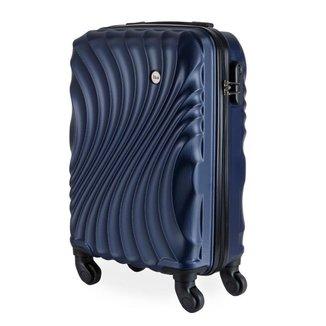 Mala de Bordo Pequena para Viagem em ABS IKA Avalon Cadeado Embutido Azul Marinho