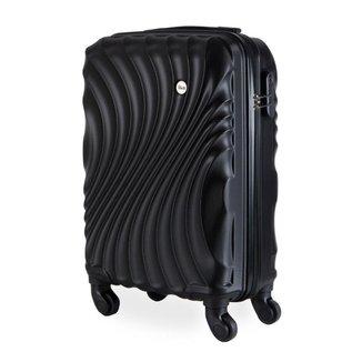 Mala de Bordo Pequena para Viagem em ABS IKA Avalon Cadeado Embutido Preta