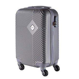 Mala de Bordo Pequena para Viagem em ABS Yins 21060 Cadeado Integrado Prata
