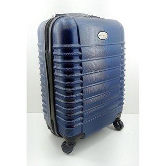 Mala De Viagem Abs Plástica c/ Rodas 360 Yins Azul Ref - YS1046A