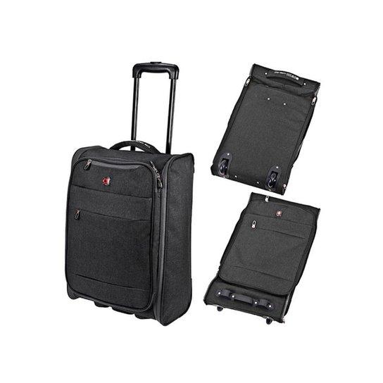Mala De Viagem Dobrável Swiss Global Bag - 47623 - Cinza Claro