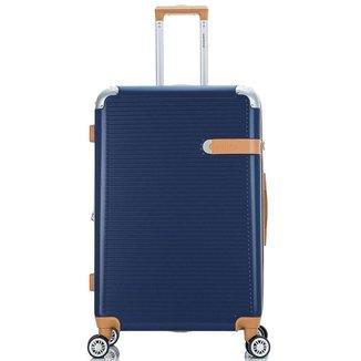 Mala de Viagem Média (23 kg) Rígida em ABS com Rodas Duplas 360º e Cadeado Tsa - Suel  Santino