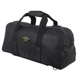 Mala Grizzly Leather Military Duffle Black
