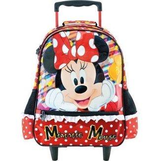 Mala Mochila escolar com Rodas 16 Minnie 8920