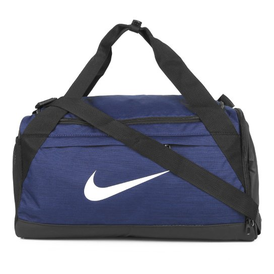 Mala Nike Brasilia Duff S - 40 Litros - Azul+Preto
