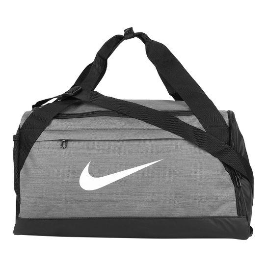 Mala Nike Brasilia Duff S - 40 Litros - Cinza+Preto