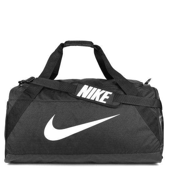 Mala Nike Brasilia XL Duff - 101 Litros - Preto+Branco