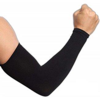 Manguito Compressão Profissional Corrida Proteção UV Sem Costura