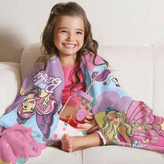 Manta Fleece Sofá Barbie Reinos Mágicos Lepper