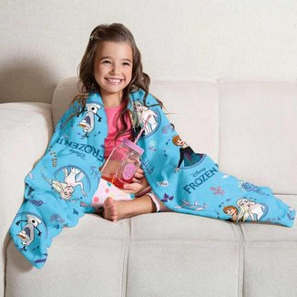 Manta Fleece Sofá Infantil Frozen Lepper