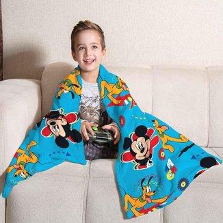 Manta Fleece Sofá Infantil Mickey Lepper