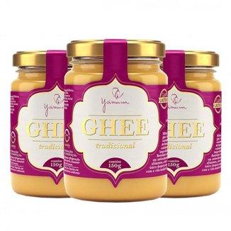 Manteiga Clarificada Ghee Kit com 3 Frascos de 150g