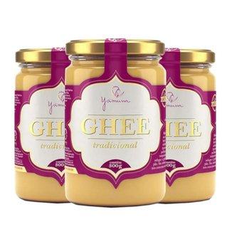 Manteiga Clarificada Ghee Kit com 3 Frascos de 300g