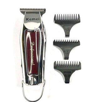 Maquina De Acabamento Cabelo Barba Profissional Sem Fio Kemei Km-9163 Bivolt