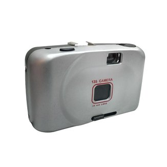 Máquina Fotográfica 28mm Retrô Leve Compacta Entrada Para Filme Com Disparador Manual