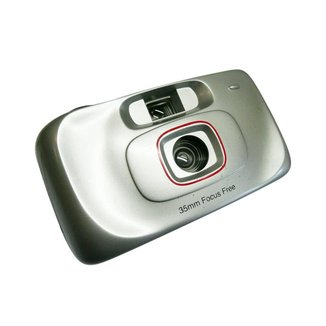 Máquina Fotográfica Retrô Leve Compacta Entrada Para Filme Com Disparador Manual