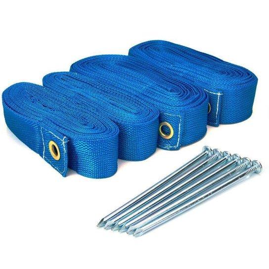 Marcação Para Spin Beach Tennis Com Fixadores - Azul