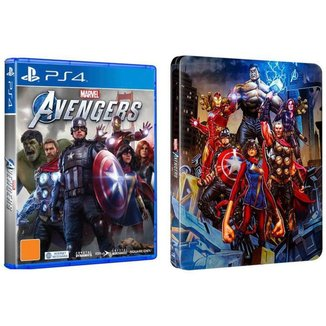 Marvels Avengers para PS4 Steelbook