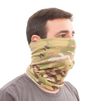 Máscara Bandana Airsoft Tubeneck Camuflada Multicam Poliéster - RESGATE MILITARIA